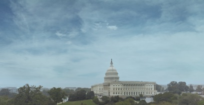 View of Capitol from Congressional offices