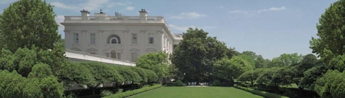 Rose Garden view from the West Wing President's office
